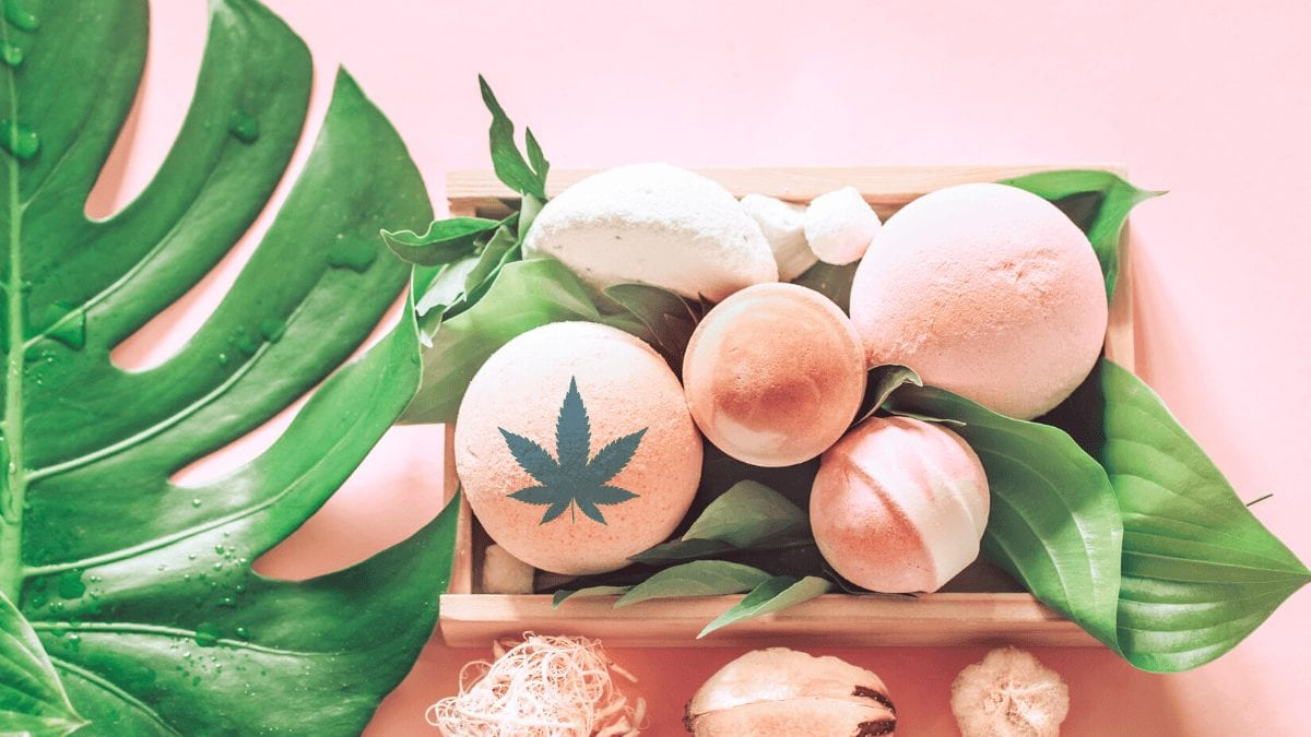 CBD hemp flower bath bombs