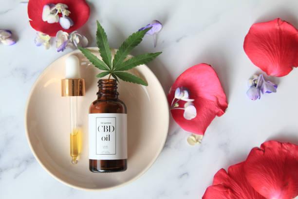 CBD flower massage oil