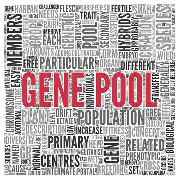 Hemp flower genetic pool